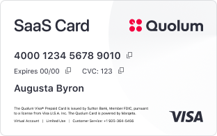 Quolum SaaS Card